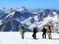 20 Вид с южных склонов Эльбруса на часть Главного Кавказского хребта