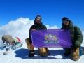 8 Флаг ТА КФУ на Западной вершине Эльбруса, 5642 метра над уровнем моря