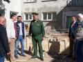 Начальник военной кафедры, генерал-майор запаса Александр Александров с коллегами