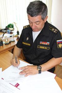 Командир Крымской военно-морской базы капитан 1 ранга Юрий Земской