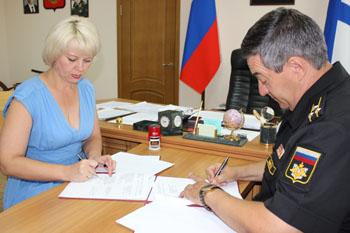 торжественная церемония подписания Соглашения о развитии шефских связей и сотрудничестве